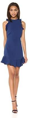 LIKELY Women's Scallop Manhattan Short Sleeve Bodycon Cocktail Dress