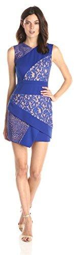 BCBGMAXAZRIA Women's Dalia Sleeveless Dress with Asymmetric