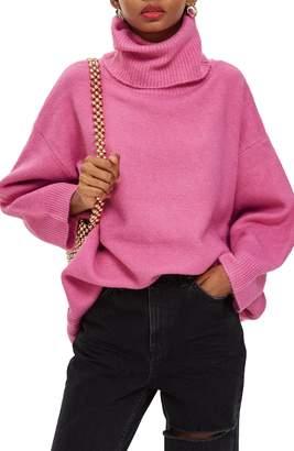 Topshop Oversize Turtleneck Sweater