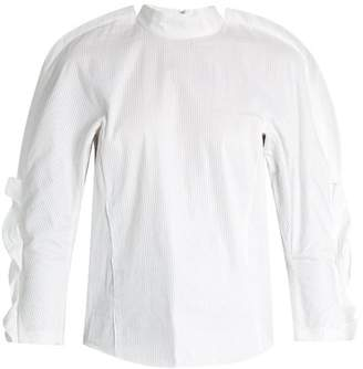 Toga High Neck Micro Pleated Top - Womens - White