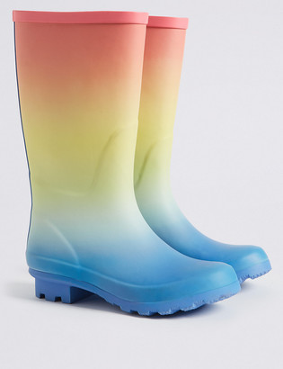 Marks and Spencer Kids Rainbow Ombre Wellies (13 Small - 6 Large)