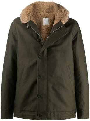 Paris hooded single-breasted jacket