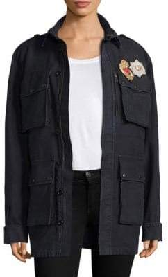 Peserico Patch-Accented Denim Jacket