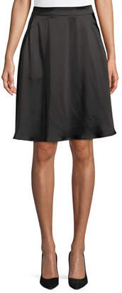 Emporio Armani Satin A-Line Knee-Length Skirt
