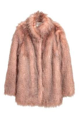 H&M Short Faux Fur Coat