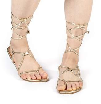 74c277503877e2 DREAM PAIRS Women s Sammy 02 Gold Fashion Gladiator Design Ankle Strap Flat  Sandals
