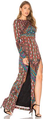 Mara Hoffman Bolnisi Rug Open Back Maxi Dress $425 thestylecure.com