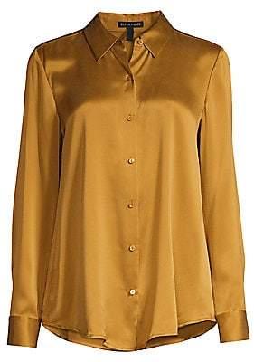Eileen Fisher Women's Classic Collar Silk Blouse
