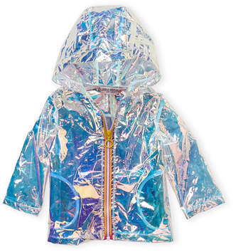 Urban Republic Infant Girls) Hologram Transparent Raincoat