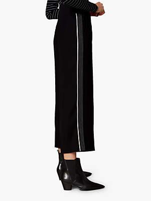 Contrast Stitch Culottes, Black