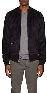 ATM Anthony Thomas Melillo MEN'S VELOUR BOMBER JACKET - BLACK SIZE XL