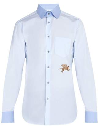 Gucci Flying Tiger Cotton Poplin Shirt - Mens - Blue
