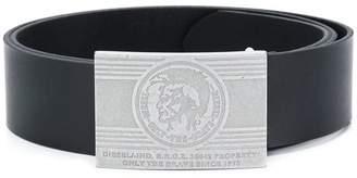 Diesel belt with metal buckle