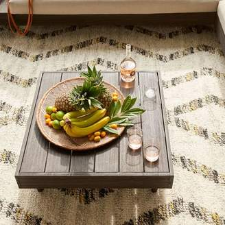 west elm Portside Outdoor Low Coffee Table - Weathered Gray