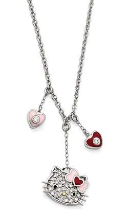 Hello Kitty Mom Script Pendant Necklace