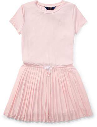Ralph Lauren Pleated Jersey T-Shirt Dress