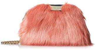 Emporio Armani Faux Fur Clutch Black