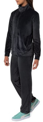 Athletic Works Women's Essential Velour Jacket and Pant Tracksuit