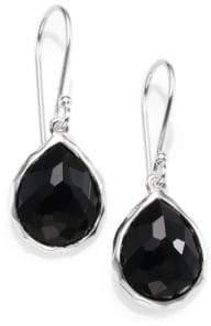 Ippolita Black Onyx& Sterling Silver Earrings