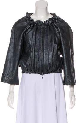 Theory Metallic Leather Jacket