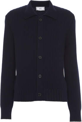 Ami Collared Wool Button-Front Cardigan