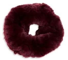 Surell Kid's Rex Rabbit Fur Infinity Scarf