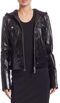 Helmut Lang Hooded Leather Jacket