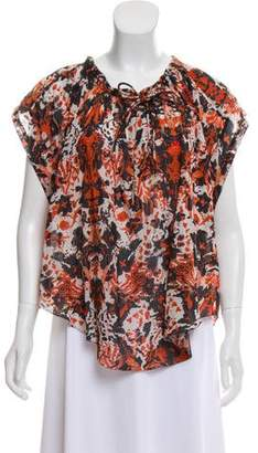 IRO Abstract Print Iseline Top