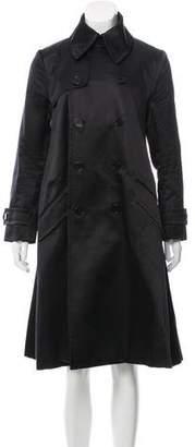 Ralph Lauren Silk Double-Breasted Coat
