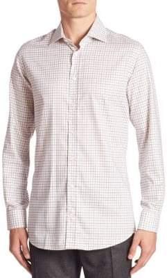 Luciano Barbera Regular-Fit Windowpane Check Shirt
