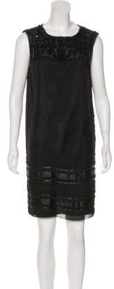 Philosophy di Alberta Ferretti Silk Beaded Dress