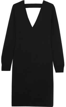 Proenza Schouler - Cutout Merino Wool-blend Dress - Black $885 thestylecure.com