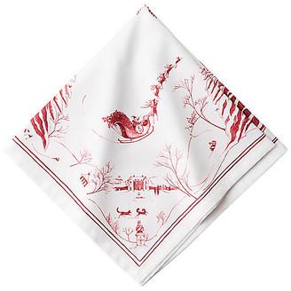 Juliska Country Estate Frolic Dinner Napkin - White/Red