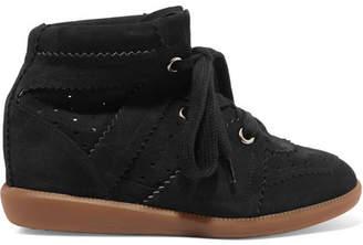Isabel Marant - étoile Bobby Suede Wedge Sneakers - Black