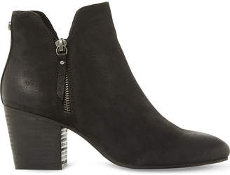 Steve Madden Ladies Black Winner Leather Ankle Boots