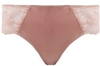 Hanro Laila Lace Trimmed Mid Rise Briefs - Womens - Pink