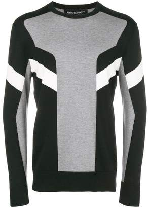 Neil Barrett colour block striped jumper
