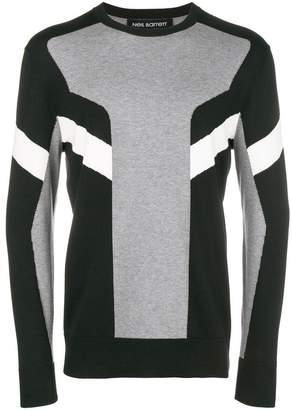 Neil Barrett colour block striped jumper