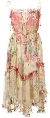 Zimmermann Flared Frilled Floral Dress