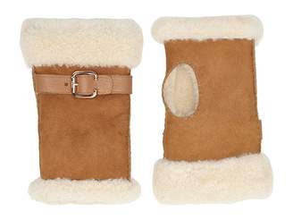 UGG Fingerless Water Resistant Sheepskin Gloves with Belt