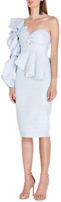 Asilio Epoch Stripe One Shoulder Dress
