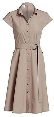 Akris Punto Women's Belted Mini Poplin Dress