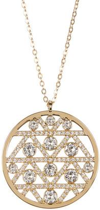 Swarovski Classic Crystal Pave Pendant Necklace $149 thestylecure.com