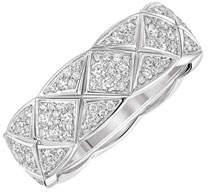 Chanel Coco Crush Ring In 18k White Gold & Diamonds, Small Version