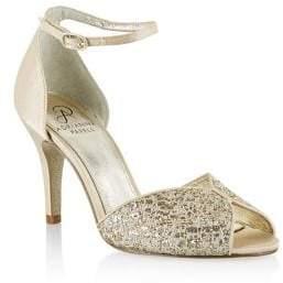 Adrianna Papell Fifi Metallic Peep-Toe Pumps