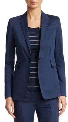 Akris Punto Cotton Button-Front Blazer