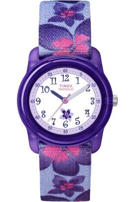 Timex Kidz Purple Flowers WATCH T7B887