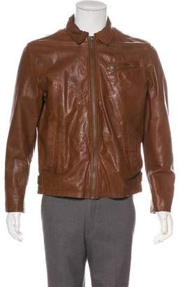 Nudie Jeans Leather Zip Jacket
