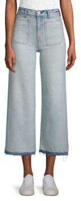 Hudson Jeans Holly High-Rise Raw-Hem Gaucho Jeans