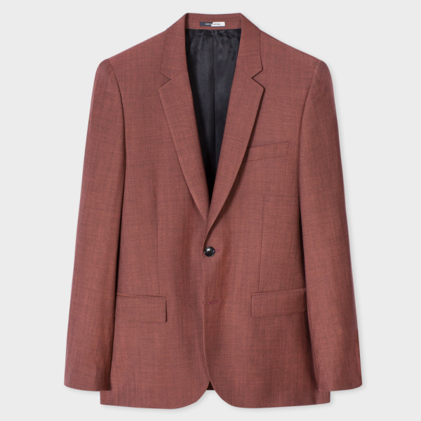 Paul Smith Men's Mid-Fit Coral Wool-Mohair Blazer